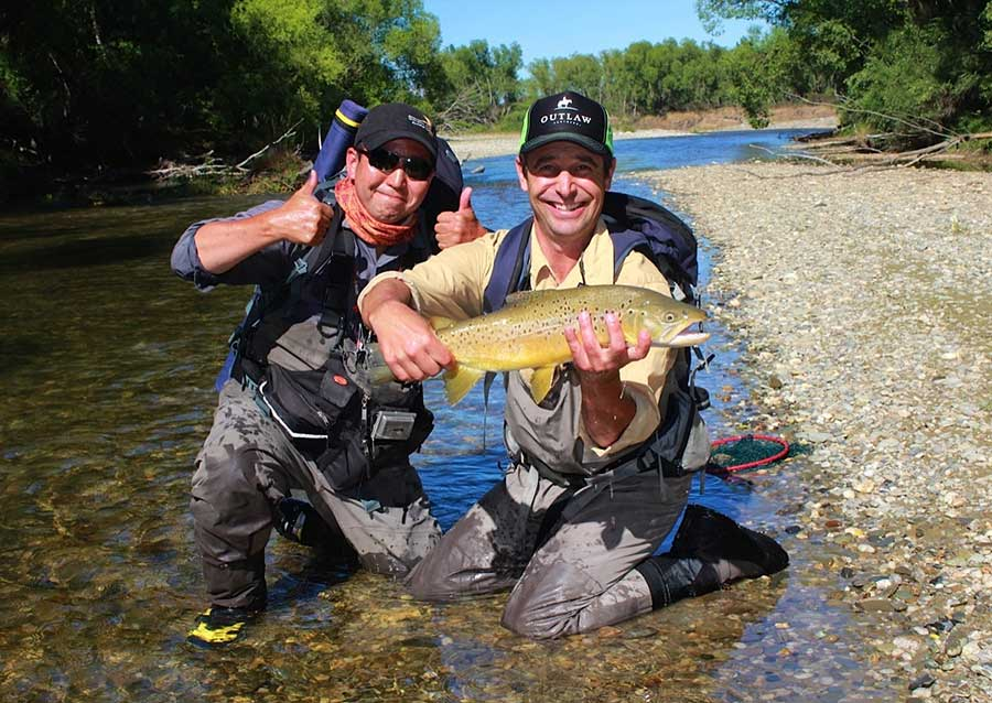 Raimbow trout caught on Tail water near Queenstown