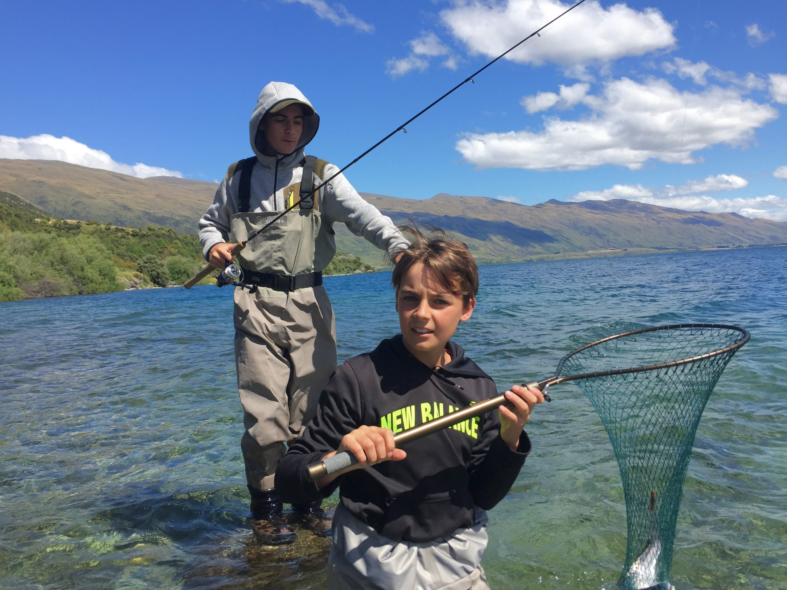 Fishing Lake Wakatipu